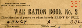 Create Your Own Ration Book